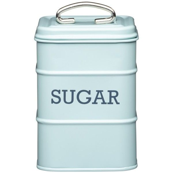 Living Nostalgia Sugar Canister Blue (790 RUB) ❤ liked on Polyvore featuring home, kitchen & dining, food storage containers, kitchen, fillers, food, decor, square food storage containers, sugar canister and tin tea canisters