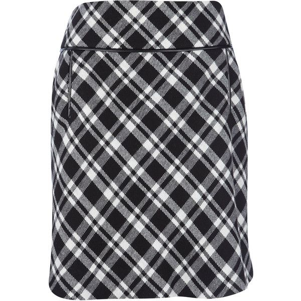 39c0311e8d8a See this and similar Wallis mini skirts - This black and white check print  skirt is perfect for on and off duty wear. Sitting just above the knee, ...