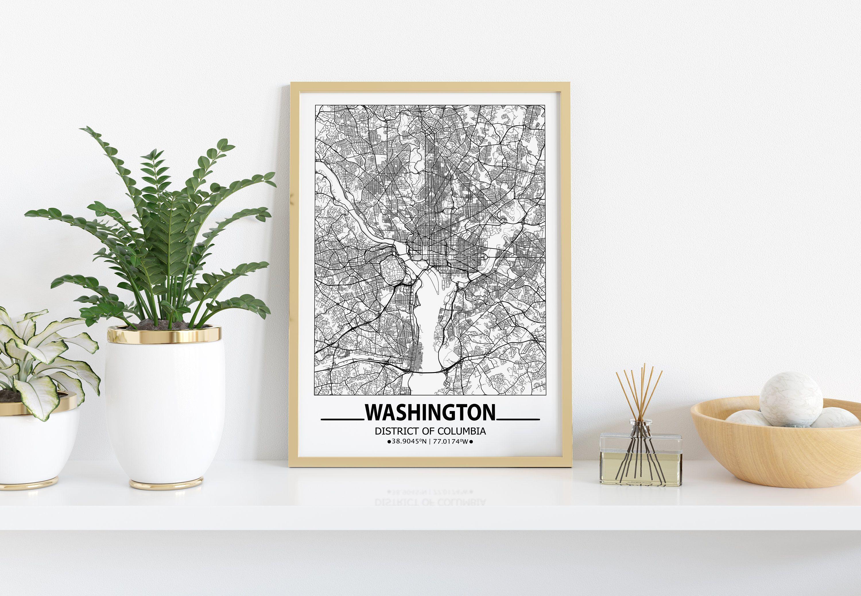 Washington Map Print Washington Wall Art Prints Travel Maps Etsy Wall Art Prints Poster Wall Art Map Wall Art