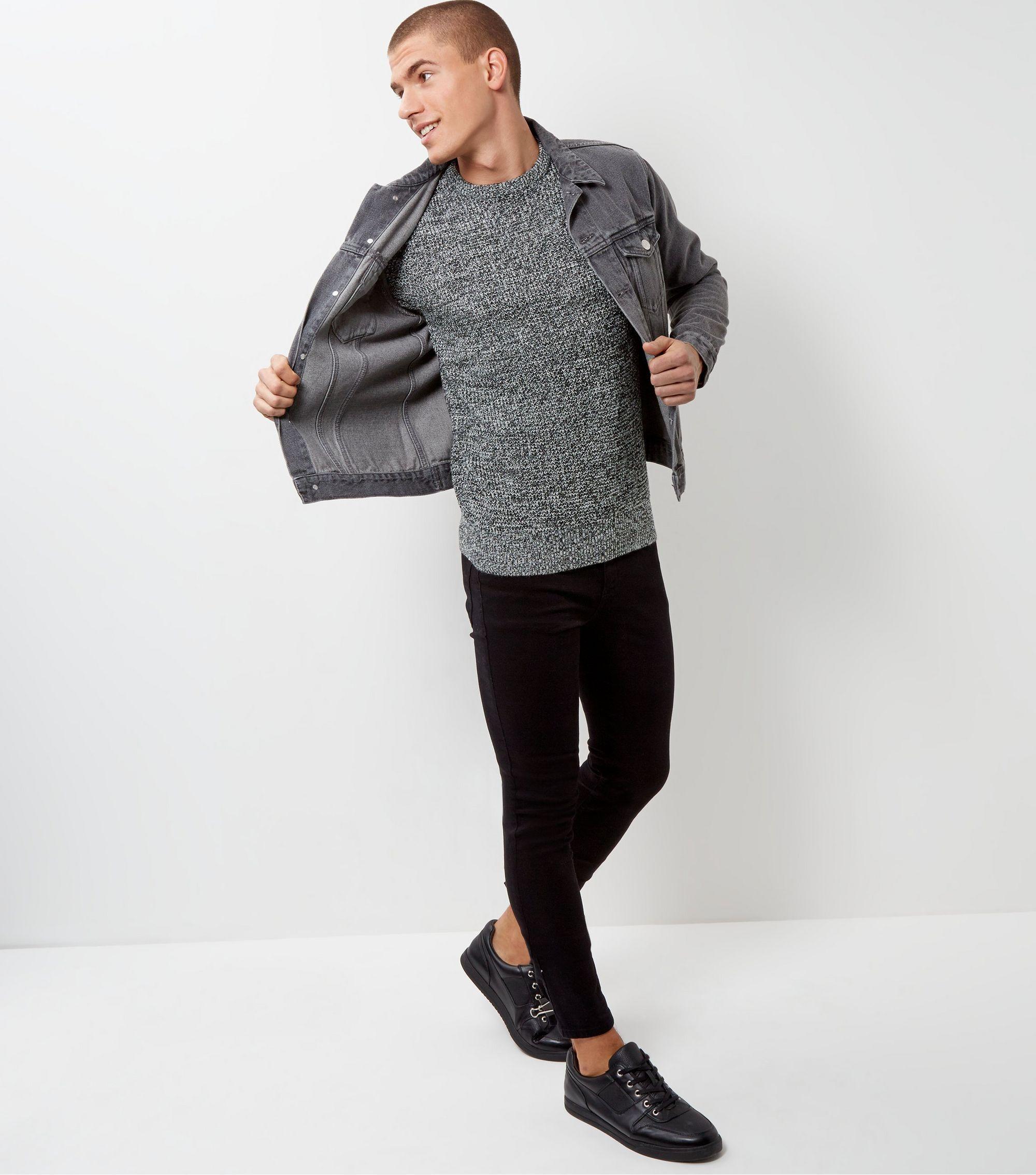 Black twist textured jumper jumper