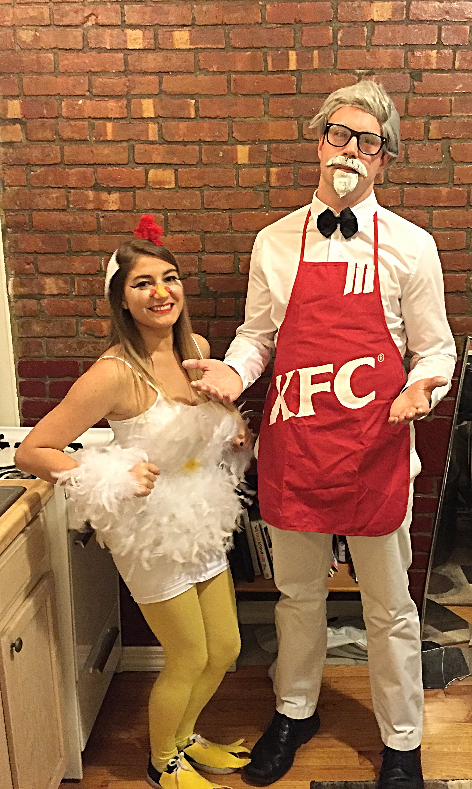 My Home Made Chicken Halloween Costume And Homemade Kfc