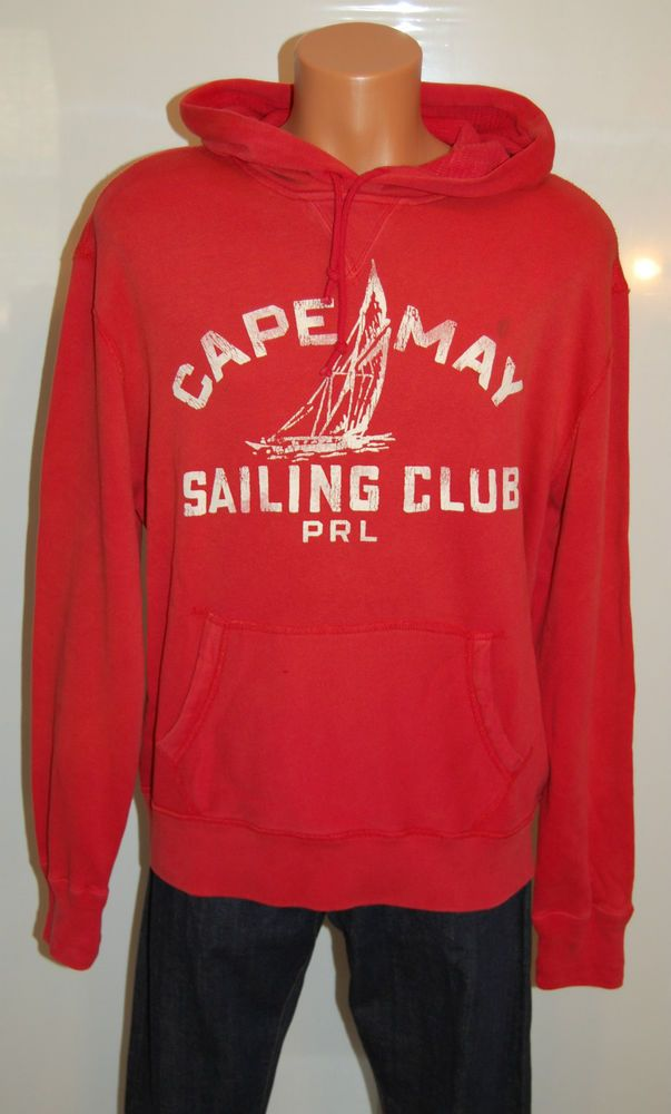 New $145 Polo Ralph Lauren Cape May Sailing Club Sweatshirt Hoodie sz L NWT  #PoloRalphLauren #Hoodie