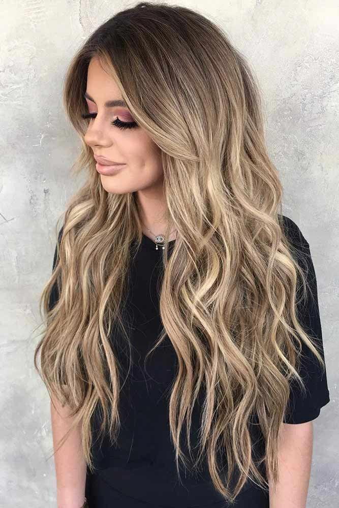 Blonde lange haare schnitt
