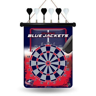 Rico NHL Magnetic Dart Board NHL Team: Columbus Blue Jackets