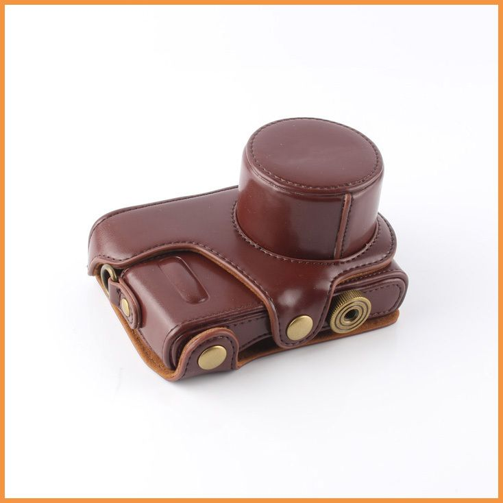 Click to Buy << Coffee PU Leather Camera Case Bag For