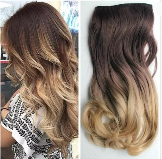 17 120g Thick Hexy Syn Halo In Ombre Dip Dye Hair Extensions Wavy Style Quick Fit Damage F Hair Extension Pieces Hair Extensions Best Ombre Hair Extensions