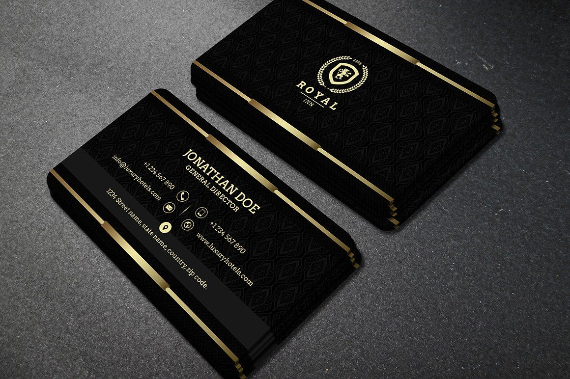 Gold And Black Business Card 40 Black Business Card Business Cards Creative Business Card Photoshop
