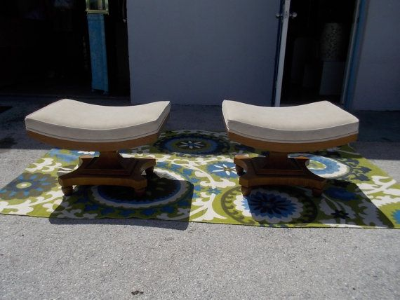 Fantastic pair of Vintage solid wood suede by JasperKaneDesigns, $795.00 If only...