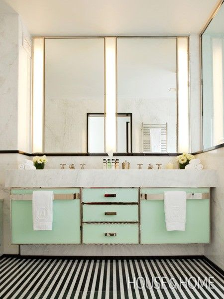 New York City s Mark Hotel Bathroom   Photo Gallery  Pattern Underfoot    House   Home. Photo Gallery  Peter Fallico s Backyard   Hotel bathrooms  New