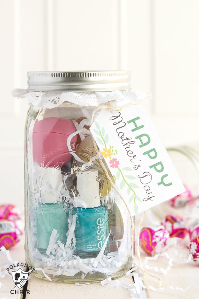 Last Minute Mother\'s Day Gift Ideas & cute Mason Jar Gifts | Spa ...