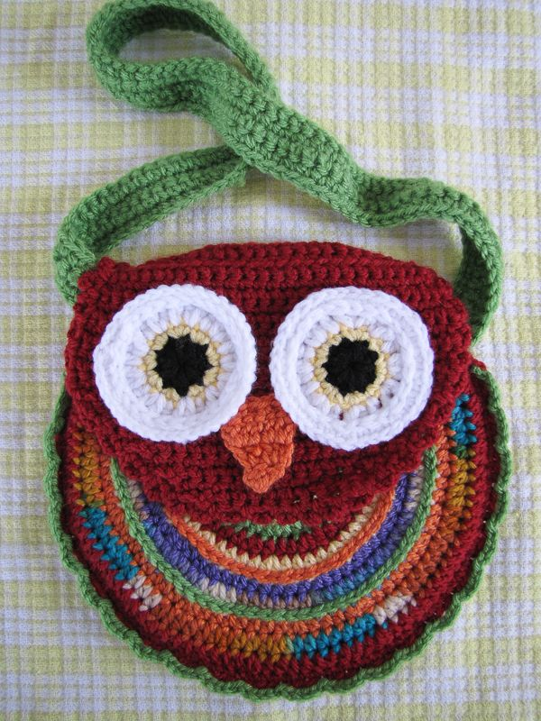 Owl Purse Crochet Purses For Kids Pinterest Owl Handbag And
