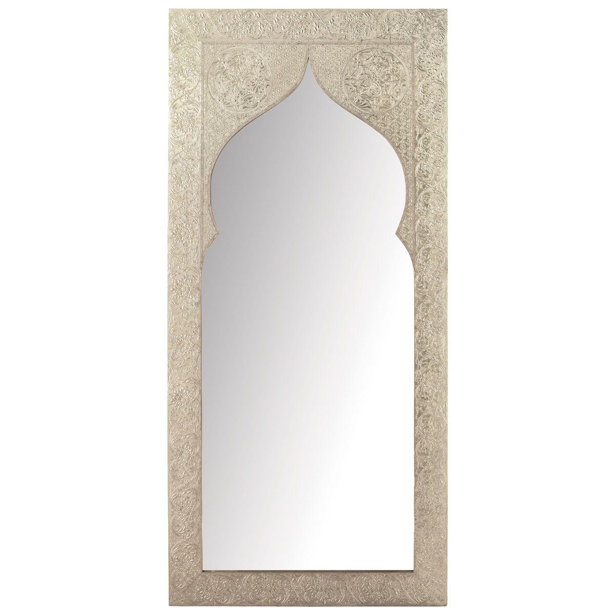 espejo latipur con pizarra gris en vez de espejo marco pintado en plata y blanco