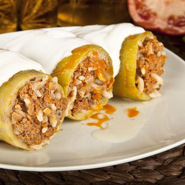 Koussa mehchi (courgettes farcies à la viande libanaises ...