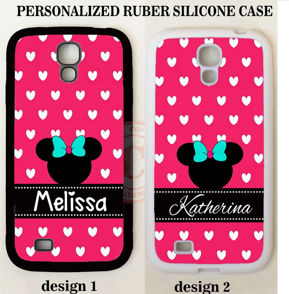 PINK HEART POLKA DOTS MOUSE MONOGRAM PHONE Case For Samsung Galaxy S7 S6 NOTE 7…