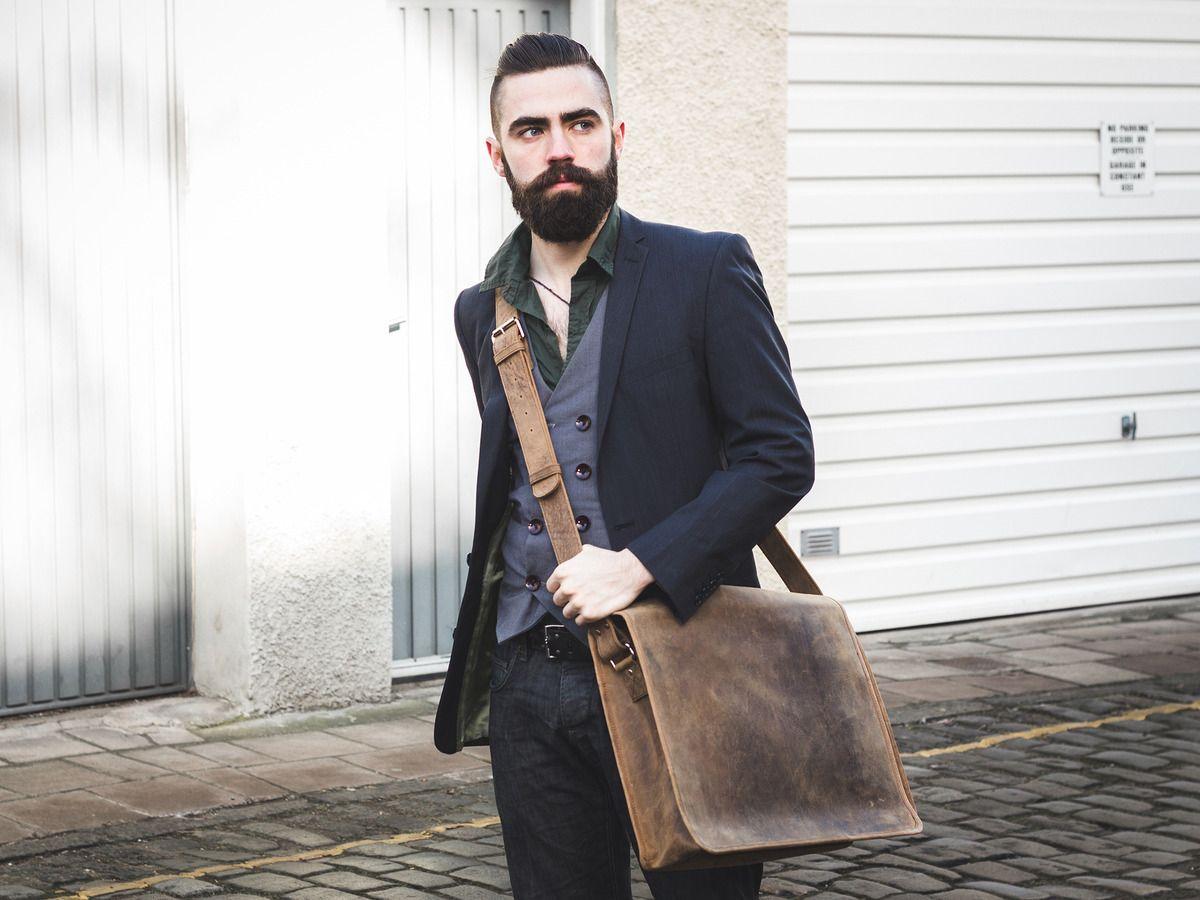 Leather Messenger Bag Large 17 Inch Thumbnail  97c33edccb0e9