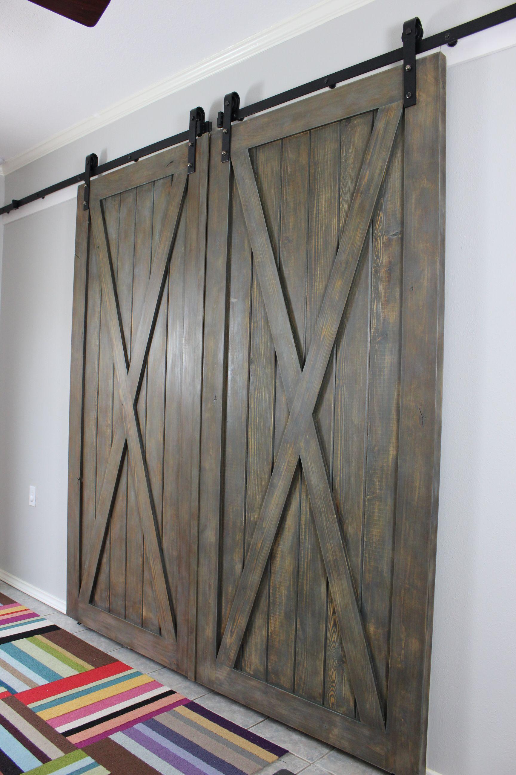 Cross Buck Barn Doors Each Door Is 40 X 90 Barn Door Decor Doors