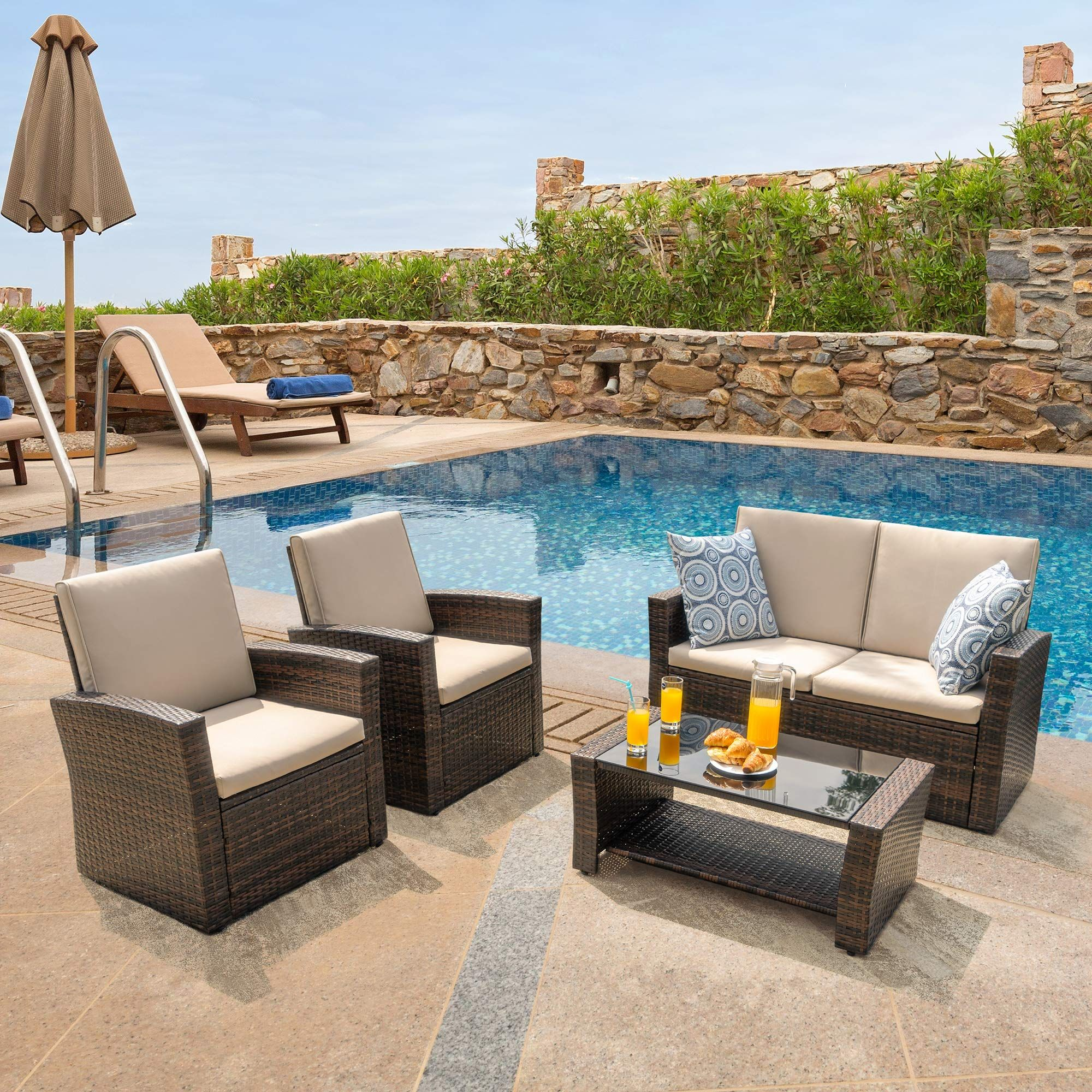 Walsunny Quality Outdoor Living Outdoor Patio Furniture Sets 5