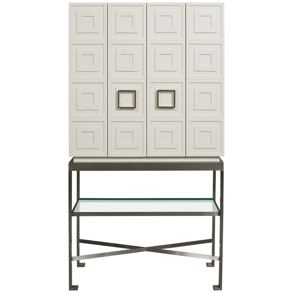 Vanguard furniture knickerboker bar cabinet in white lacquer 展示
