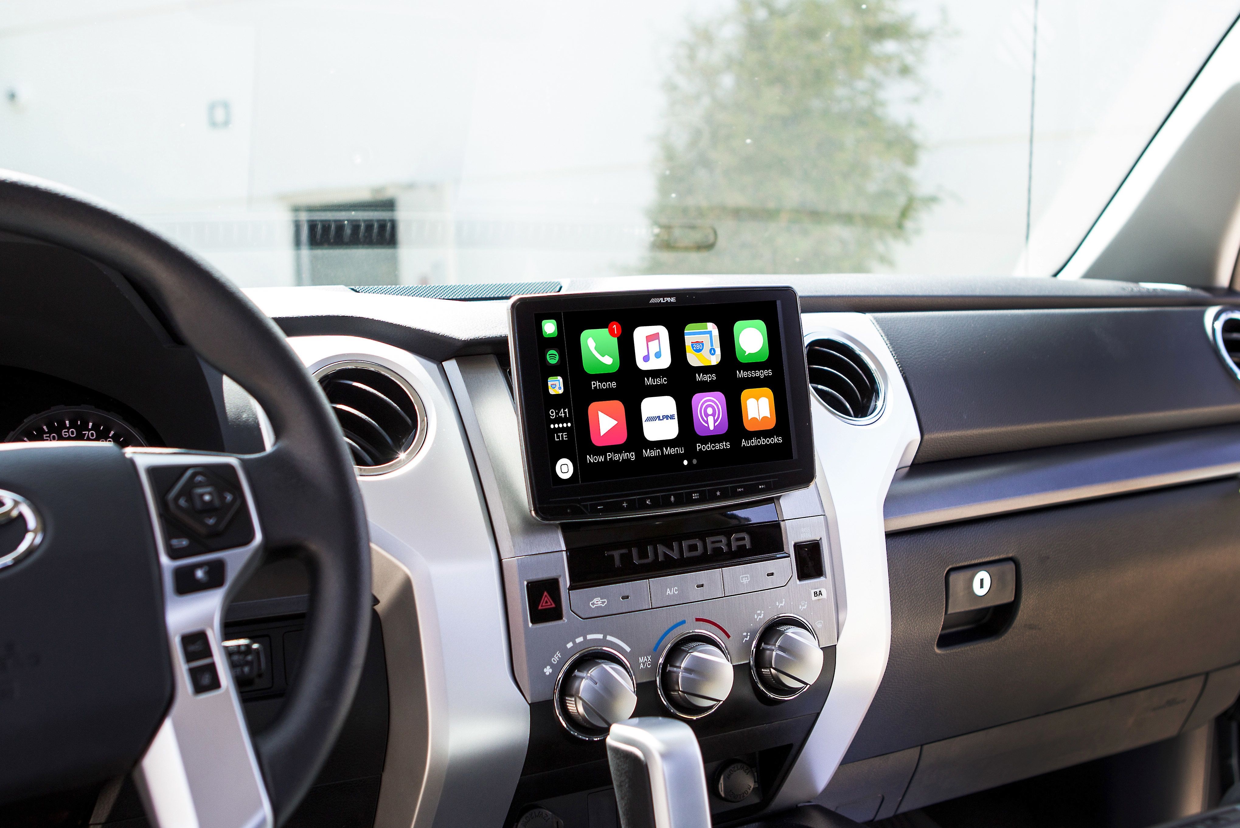 Alpine Halo9 Ilx F309tnd Custom Fit Digital Multimedia Receiver With 9 Touchscreen For 2014 19 Toyota Tundras Does Not Play Cds At Crutchfield Toyota Tundra Apple Car Play Toyota Tundra Accessories