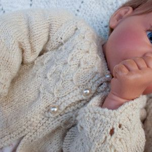 be7ba8d8f960 HandKnit Smocked Baby Sweater in HandSpun Merino Wool   Silk ...