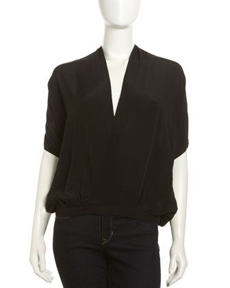 Studded Crossover Top, Black by Chelsea Flower at Last Call by Neiman Marcus.
