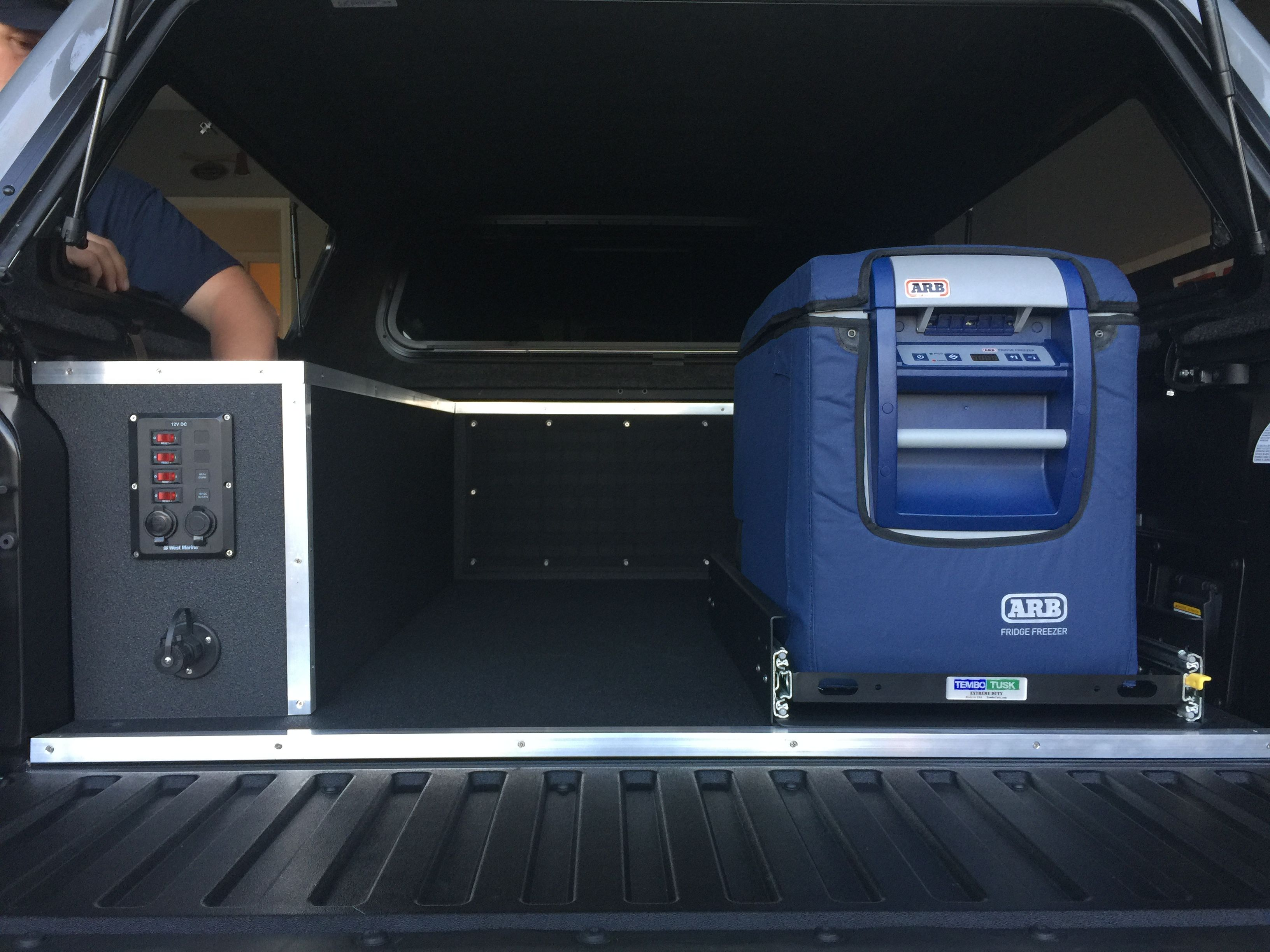 2017 toyota tacoma trd pro truck bed storage solution custom built by family overland expeditions
