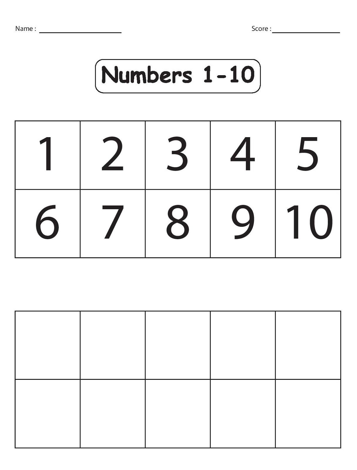 Free Number 1 Worksheets Pictures Math Free Preschool