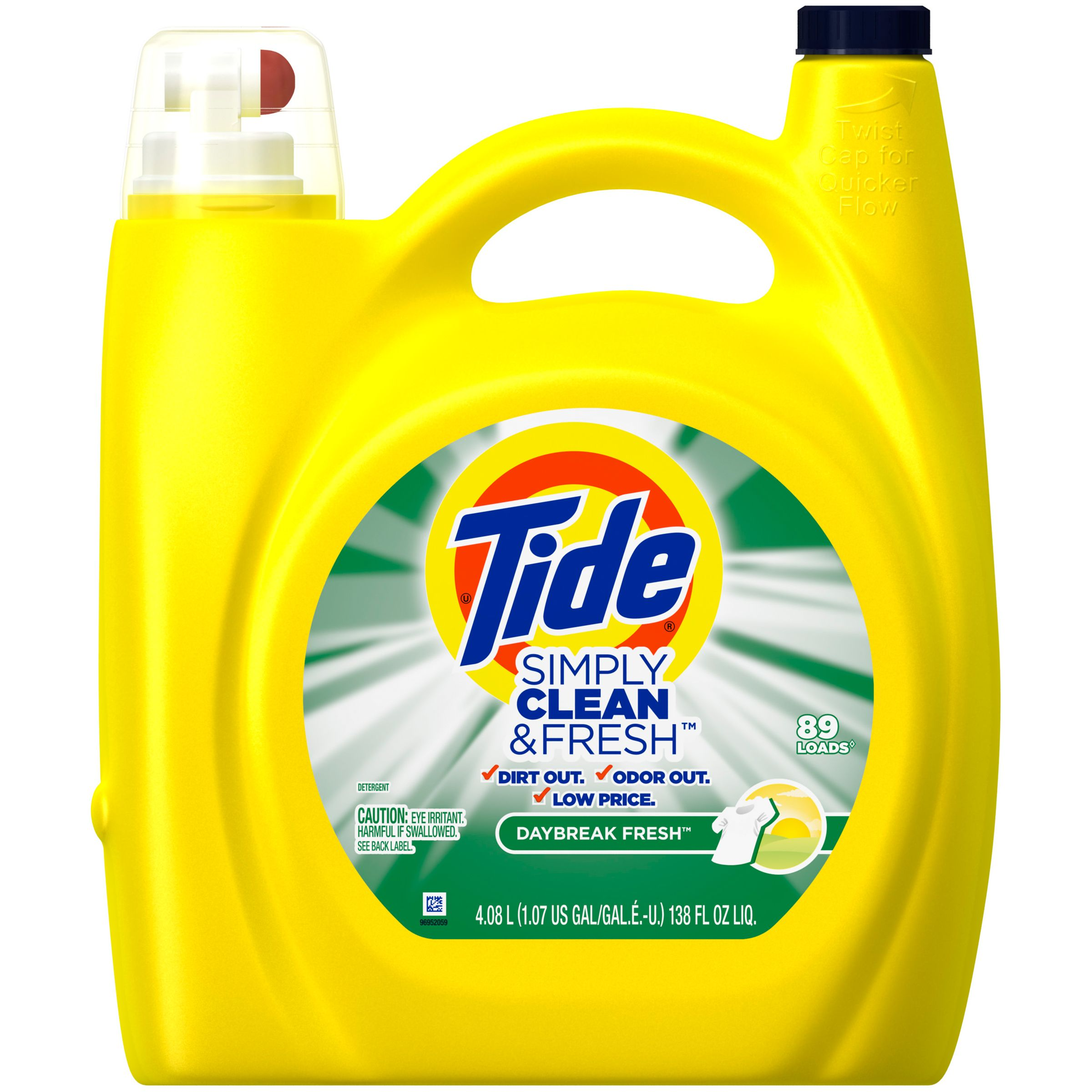 Tide Simply Clean Fresh He Liquid Laundry Detergent Daybreak