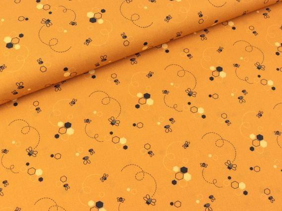 Summ summ summ - Bees summ around on the soft cotton fabric