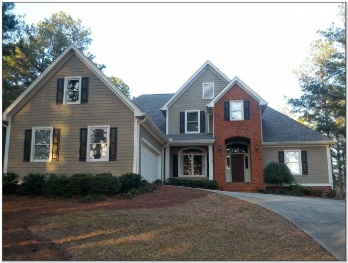 Vinyl Siding And Brick Color Combinations Red Brick House House Exterior White Brick Houses