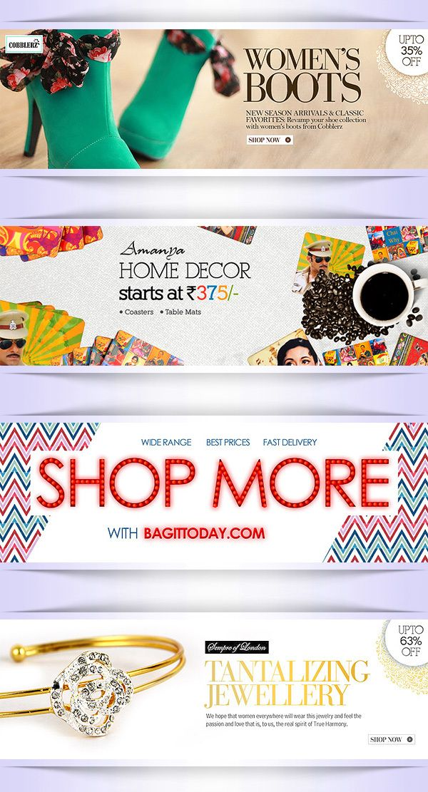 Ad / Banners for BAGITTODAY.COM by Ajay Bhardwaj, via Behance