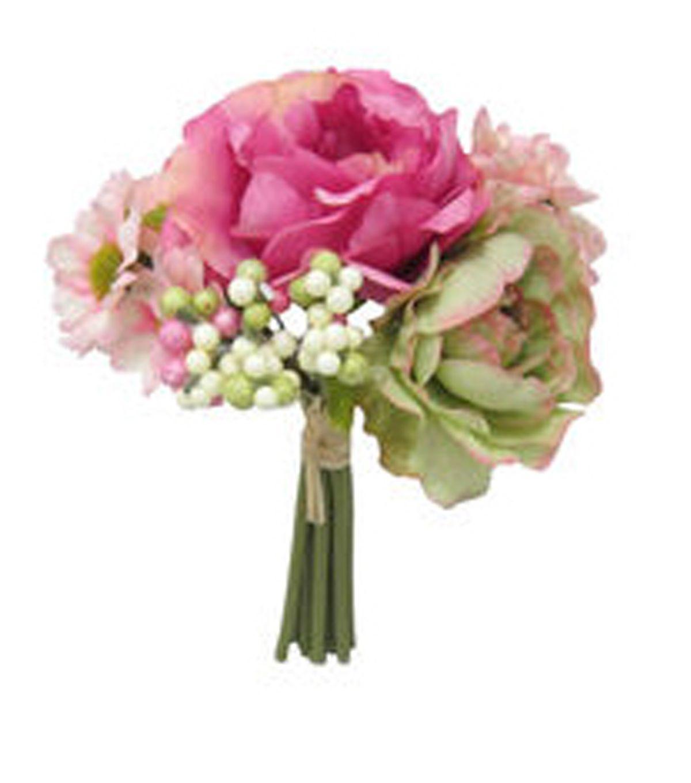 Bloom Room Peony Rose & Berry Stem Bundle-Pink & Cream