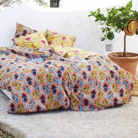 Housse de couette ananas et motifs africains coton for Housse de couette homme
