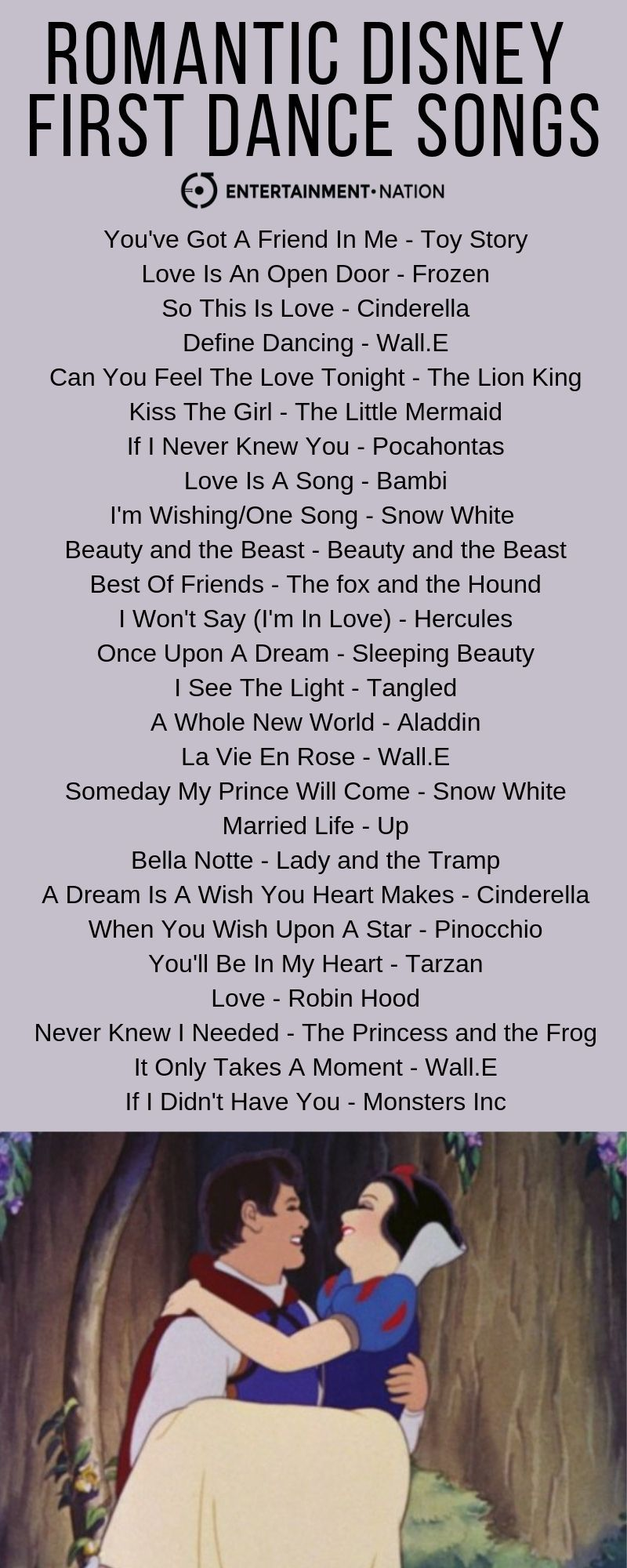 Romantic Disney First Dance Songs  #disney_wedding #Ideas