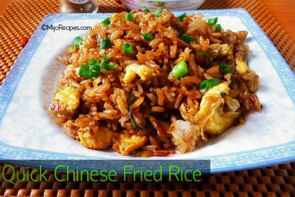 Quick chinese fried rice food n such pinterest rice chinese chinese fried rice recipe is a popular chinese recipe you can even use left over rice to make this my chinese fried rice recipe is very quick and easy to forumfinder Gallery