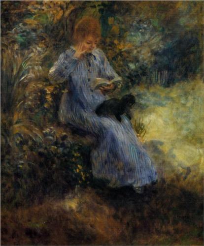 Woman with a Black Dog - Pierre-Auguste Renoir