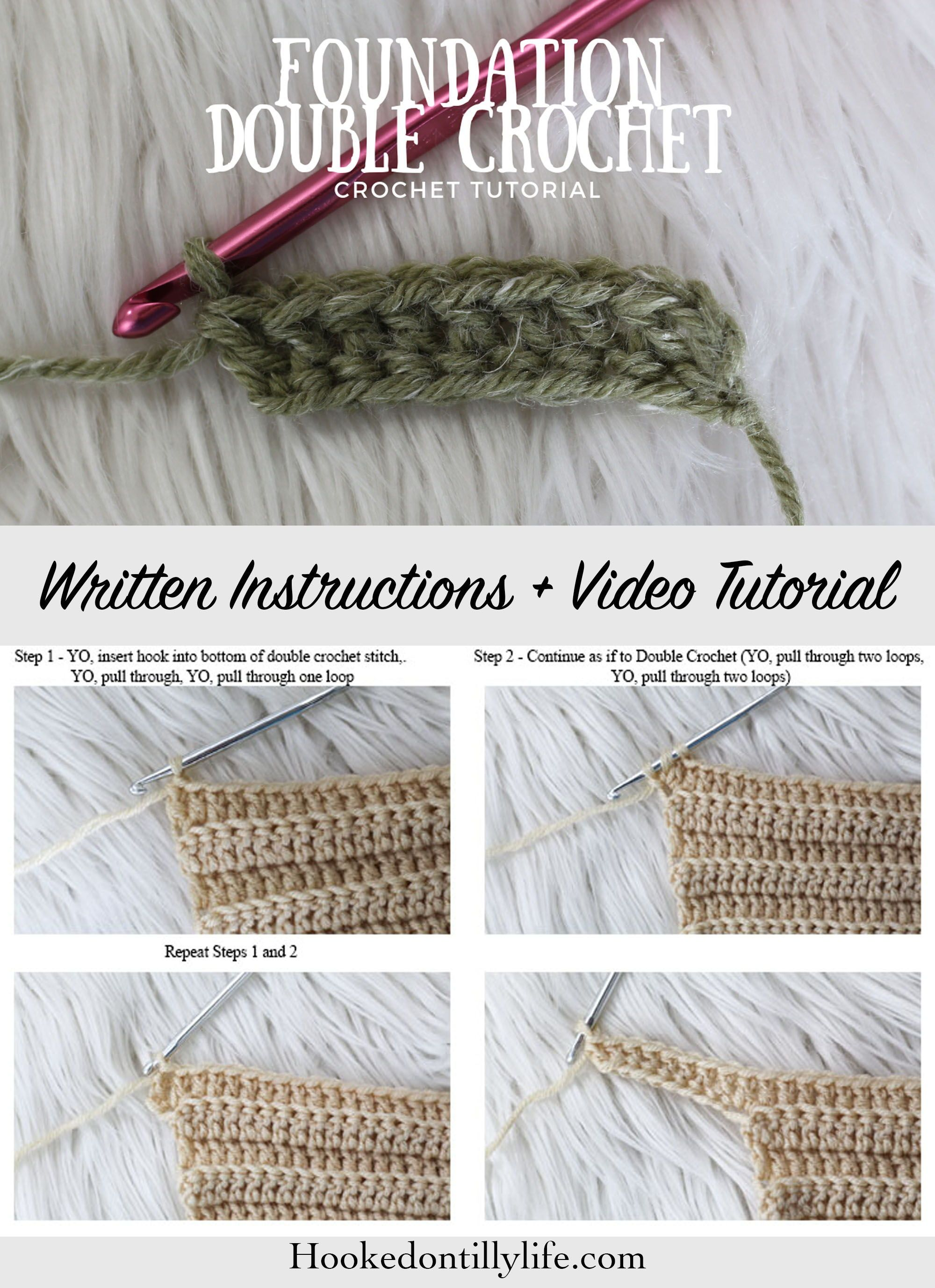 Foundation Double Crochet Crochet Stitch Best Knitting And