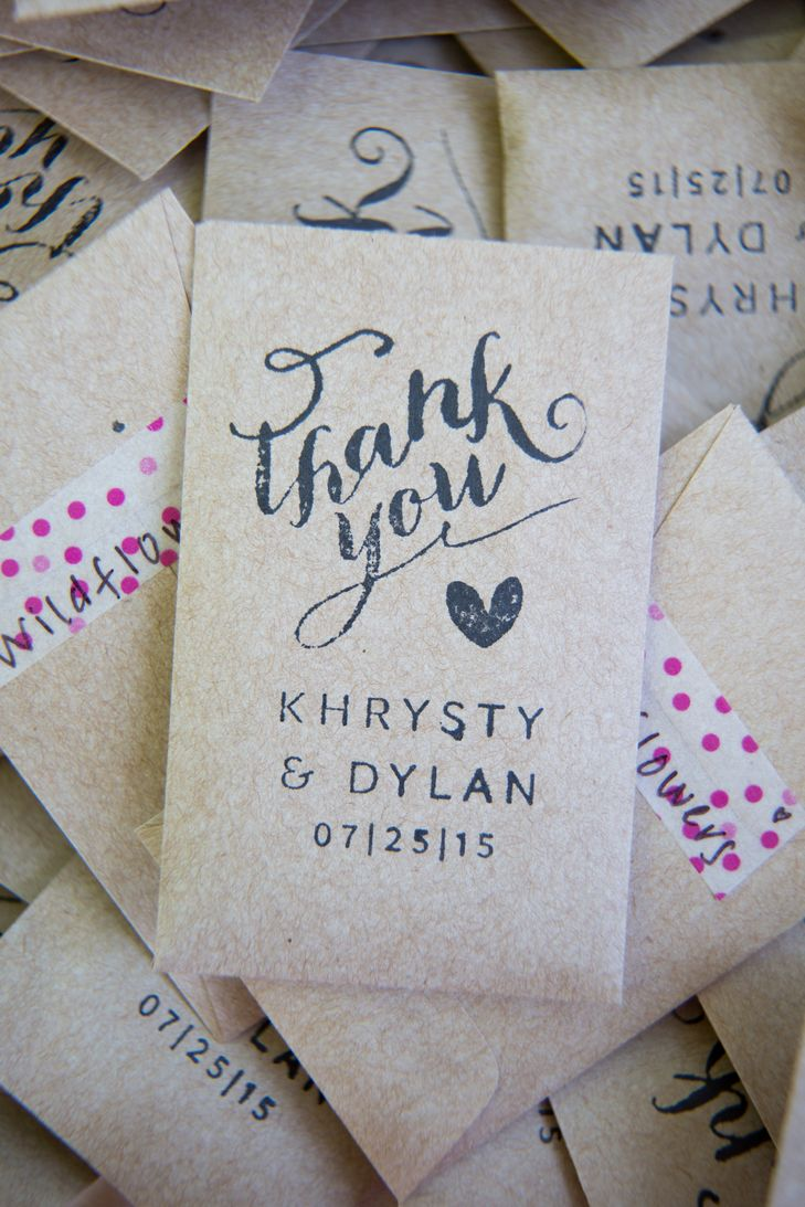 DIY Seed Packet Wedding Favors | Ashley Macadam Photography | Blue ...