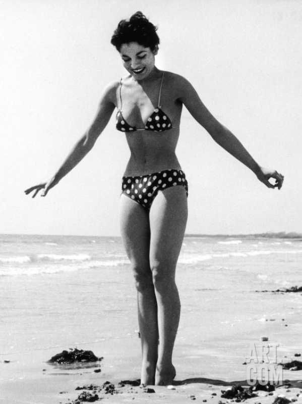 Polka Dot Bikini 1950s Photographic Print by | Art.com