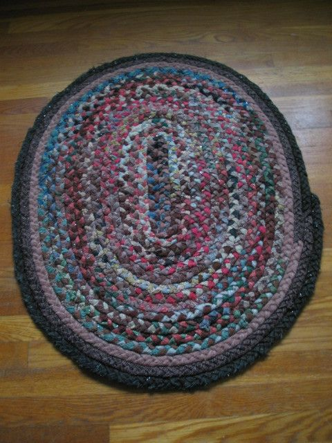 Vtg Handmade Folk Art Antique Oval Braided Wool Rug Lancaster Pa Colorful 28 X37 Ebay
