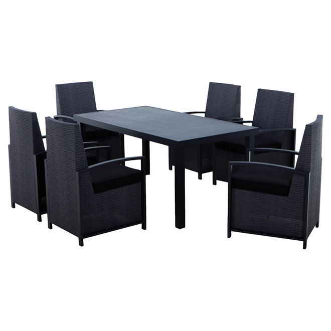 Stupendous 899 Soho Patio Dining Set Black 13 Pieces Patio Gmtry Best Dining Table And Chair Ideas Images Gmtryco