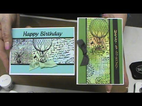 #159 Learn to blend with everyday inks and stamping with Docratfs Stamps by Scrapbooking Made Simple - YouTube