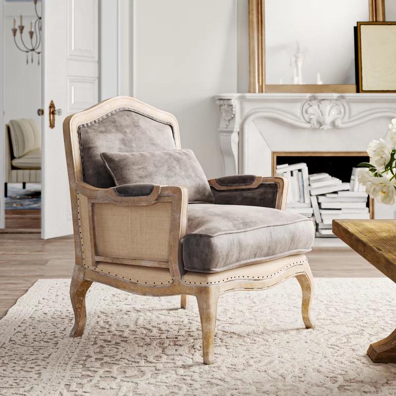 """Moran 29"""" Wide Armchair in 2021   Armchair, Home, Linen armchair"""