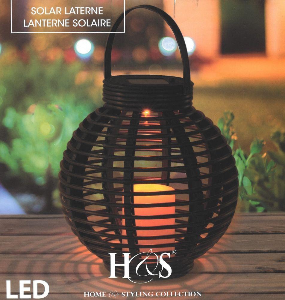 Solar Led Candle Lantern Patio Lighting