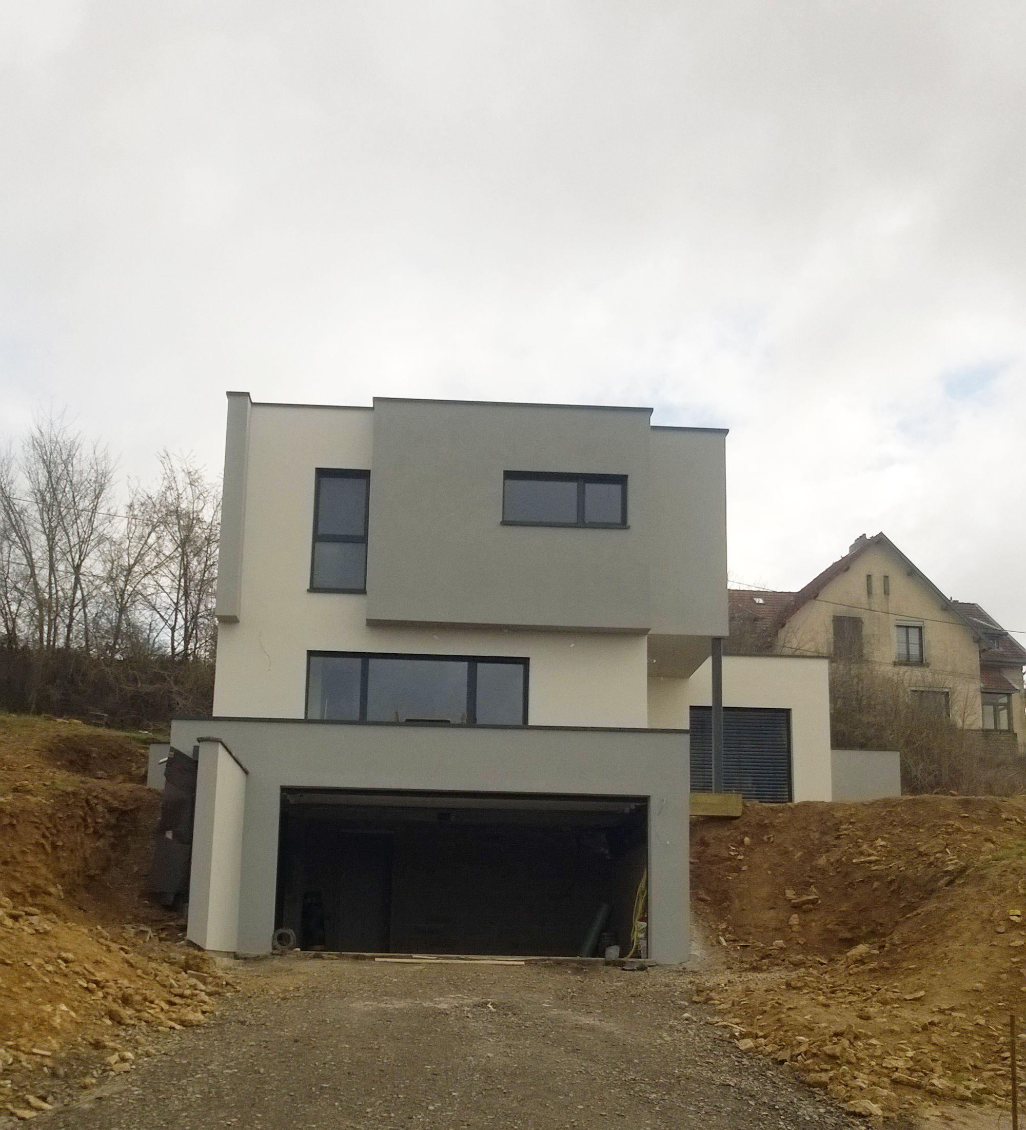 Maison bois sur terrain en pente maison en 2018 pinterest maison bois maison et terrain - Maison avec toit une pente ...