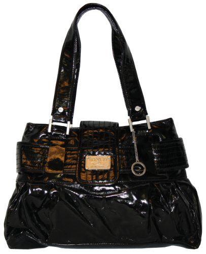 Ro  Co Vegan TERI NonLeather Handbag 8571 Black -- You can get additional details at the image link.