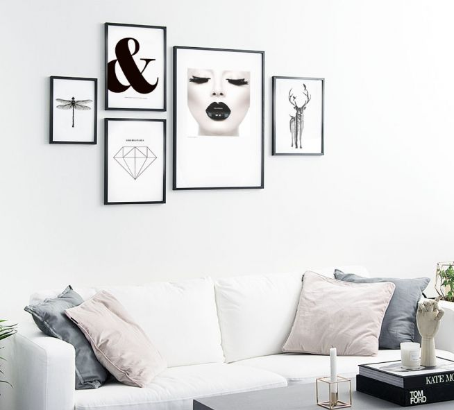 Black lips tavla noir poster med foto av svarta l ppar print med fotokonst basteln - Wohnungseinrichtung planen ...