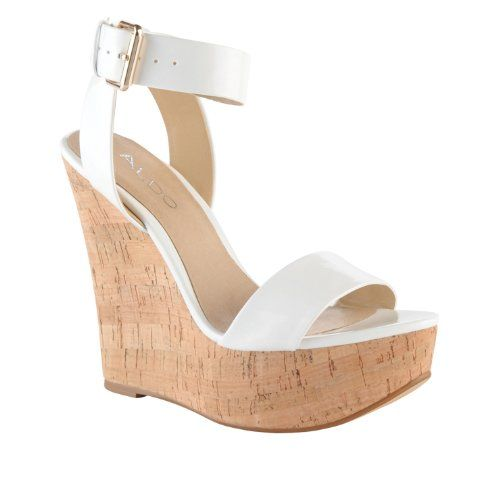 Aldo Harvat Women Wedge Sandals White Wedges Shoes Womens Sandals Wedges Wedge Sandals
