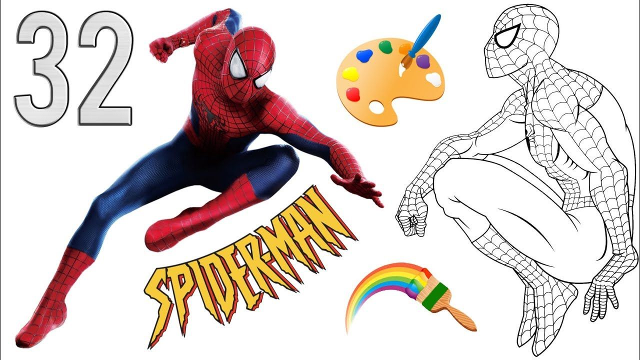 Spiderman Coloring Pages For Children Drawing Coloring Superheroes Col Spiderman Coloring Drawing For Kids Coloring Books