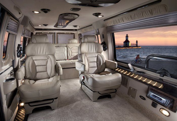 Luxury Conversion Van Limo Shuttle Hightop interior ...